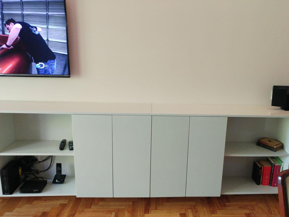 Mueble laqueado living